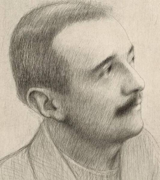"""Georges GORVEL, """"Portrait de Charles Bordes"""", © Hors-Texte Revue Musicale Veme année N°10 - 1er août 1924"""
