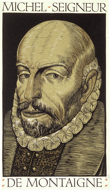"Luis Felipe-Vicente Jou i Senabre, dit Louis Jou, ""Montaigne"" (1934), (source : http://humanities.uchicago.edu/orgs/montaigne)"