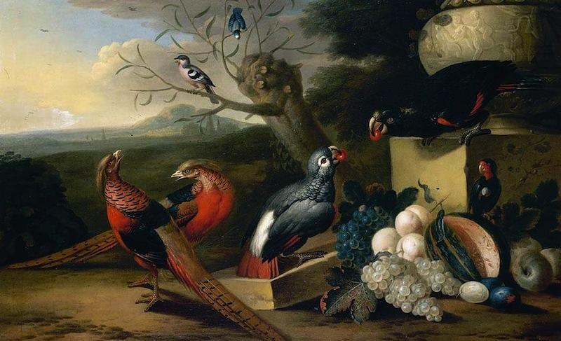 """Tobias STRANOVER, """"Paysage avec des oiseaux"""", collection privée (source : wga)"""