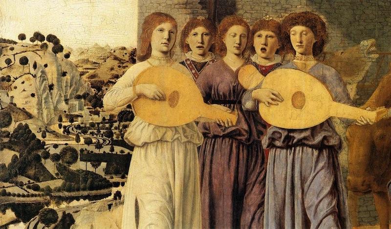 """Piero DELLA FRANCESCA, """" Nativité"""" (détail), (1470-75), National Gallery, Londres (Source : WGA)"""