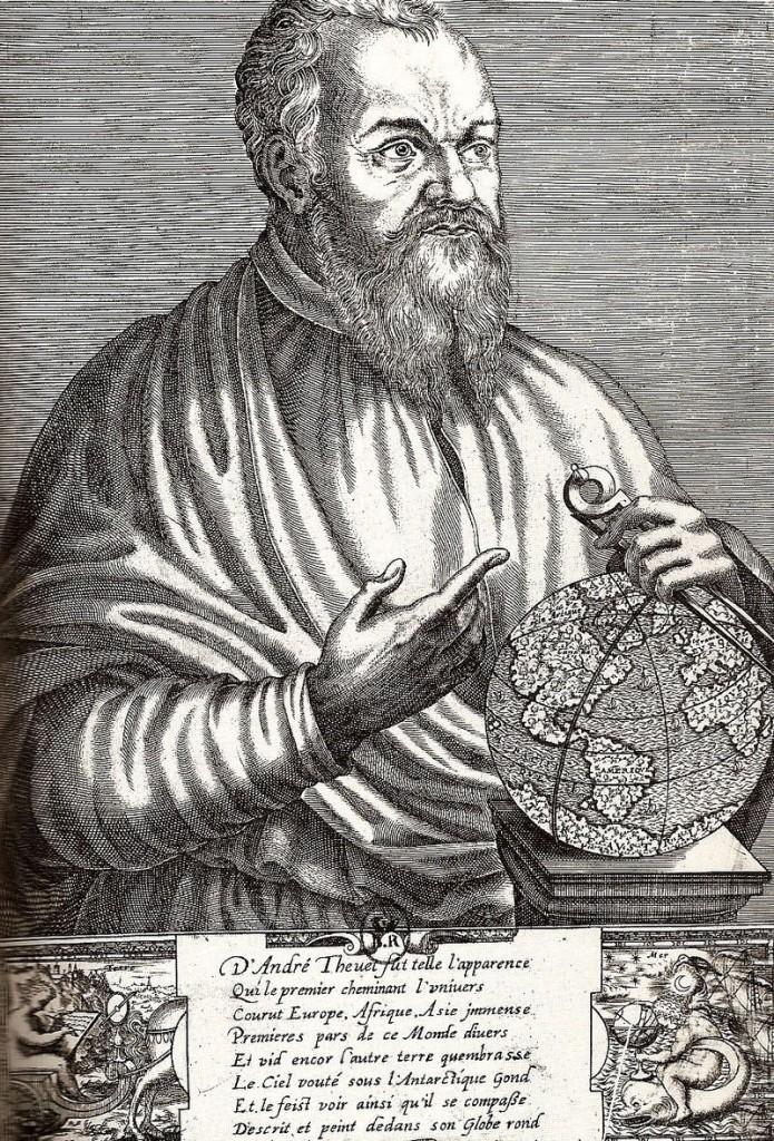 Portrait d'André Thevet par Thomas de Leu, 1586 (wikipedia)