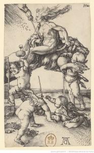 La Sorcière, Albrecht Dürer, 1500-01. BnF (gallica)