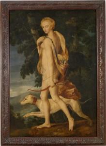 Diane chasseresse, école de Fontainebleau, v. 1550. Paris, Musée du Louvre (rmn)