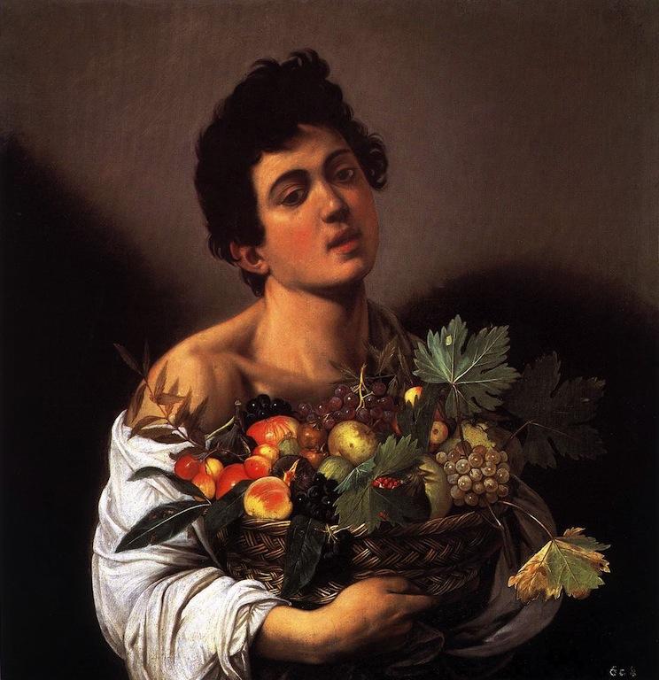 CARAVAGGIO Le garçon à la corbeille de fruits, c. 1593, Huile sur toile, Galleria Borghese, Rome