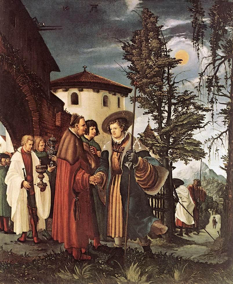 Altdorfer Albrecht, Saint Florian quittant le monastère, (1530), Galleria degli Uffizi, Florence, (source : WGA)