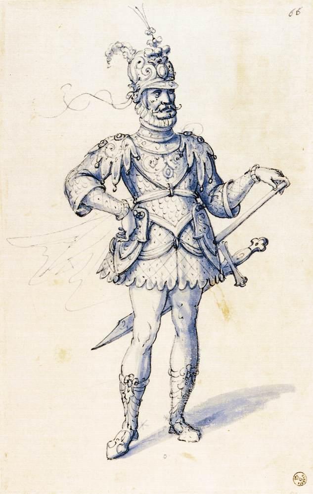 "Arcimboldo Giuseppe, ""Costume de chevalier"", (1585), Galleria degli Uffizi, Florence, (source : WGA)"
