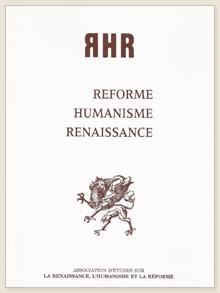 Réforme, Humanisme, Renaissance, n° 81, déc. 2015