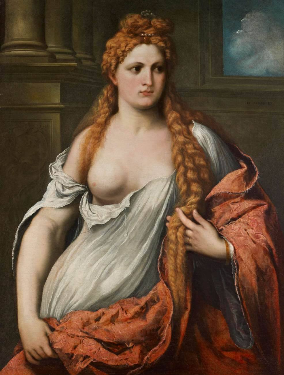 """Paris Bordone, """"Portrait d'une jeune femme"""" (1540), collection privée."""