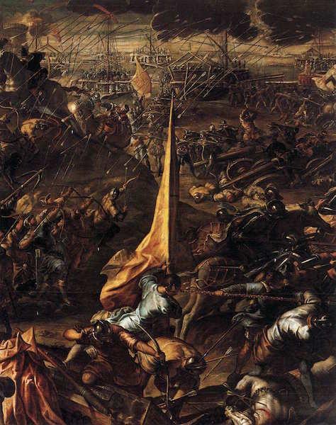 TINTORETTO La conquête de Zara, 1584 Huile sur toile, Palazzo Ducale, Venice (source : WGA)