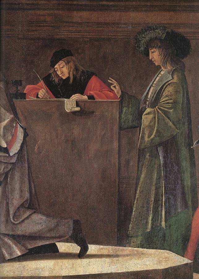 CARPACCIO, Vittore Le départ des ambassadeurs, 1495-1500 Huile sur toile Gallerie dell'Accademia, Venice