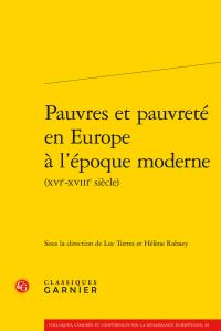 Pauvres et pauvreté en Europe à l'époque moderne (XVIe-XVIIIe siècle)