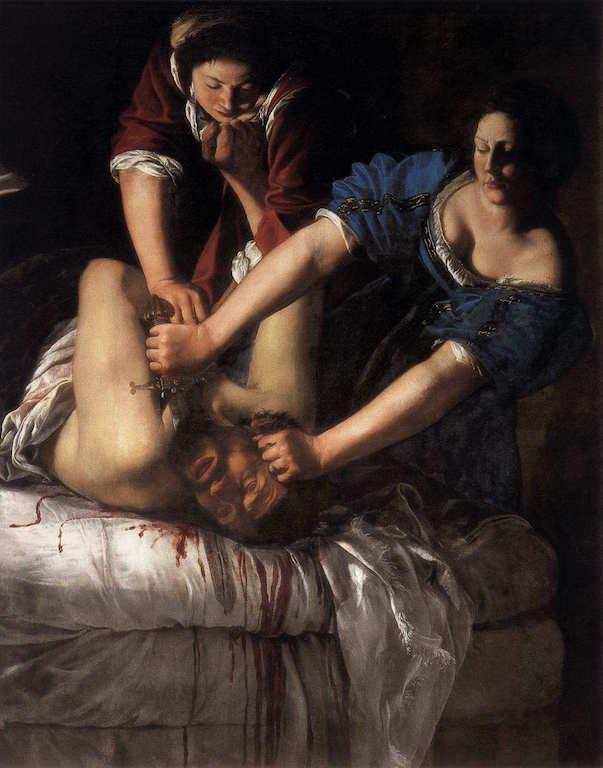 GENTILESCHI, Artemisia Judith décapitant Holofernes 1611-12 Huile, Capodimonte, Naples