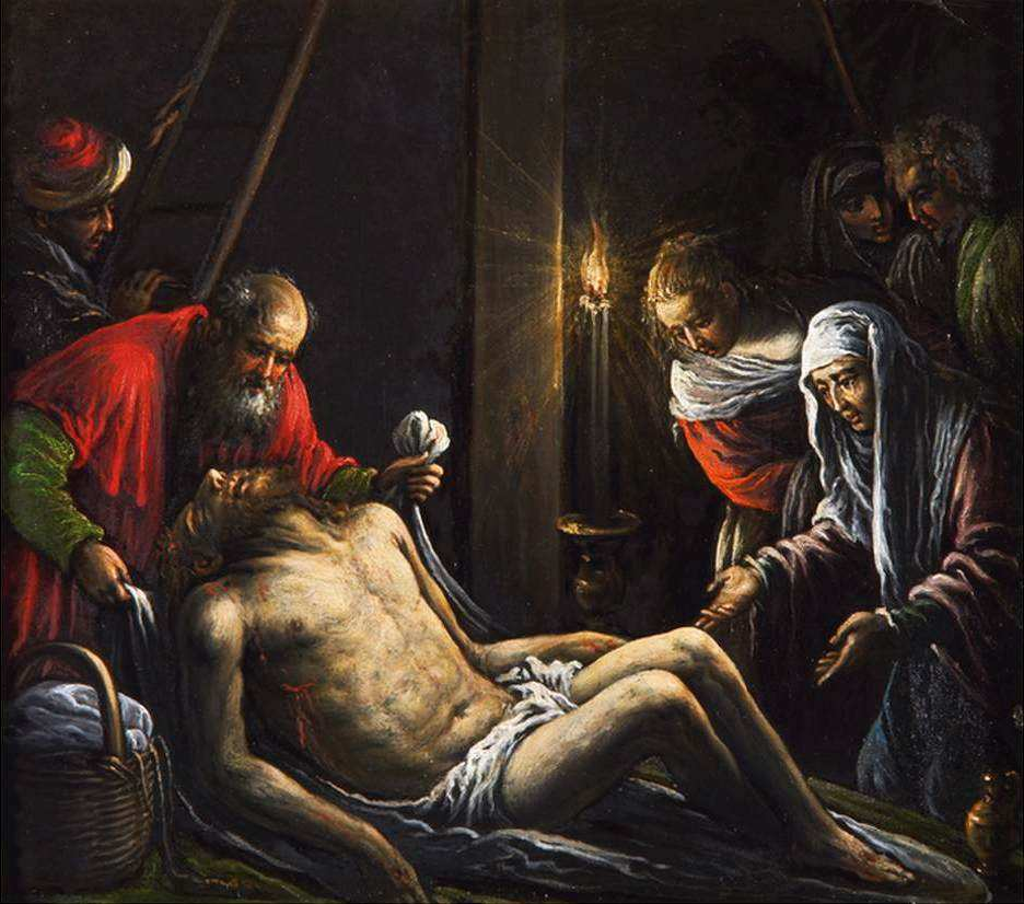 BASSANO, Francesco La lamentation du Christ 1582-85 Collection privée (source : WGA)