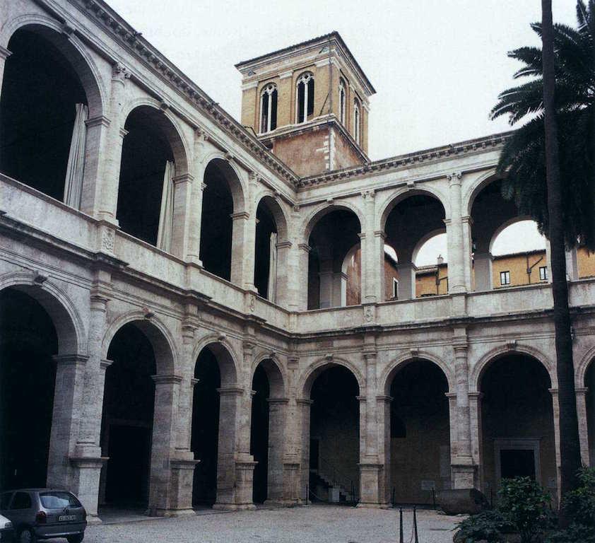 ALBERTI, Leon Battista Courtyard after 1455 Photo Palazzo Venezia, Rome (source : WGA)
