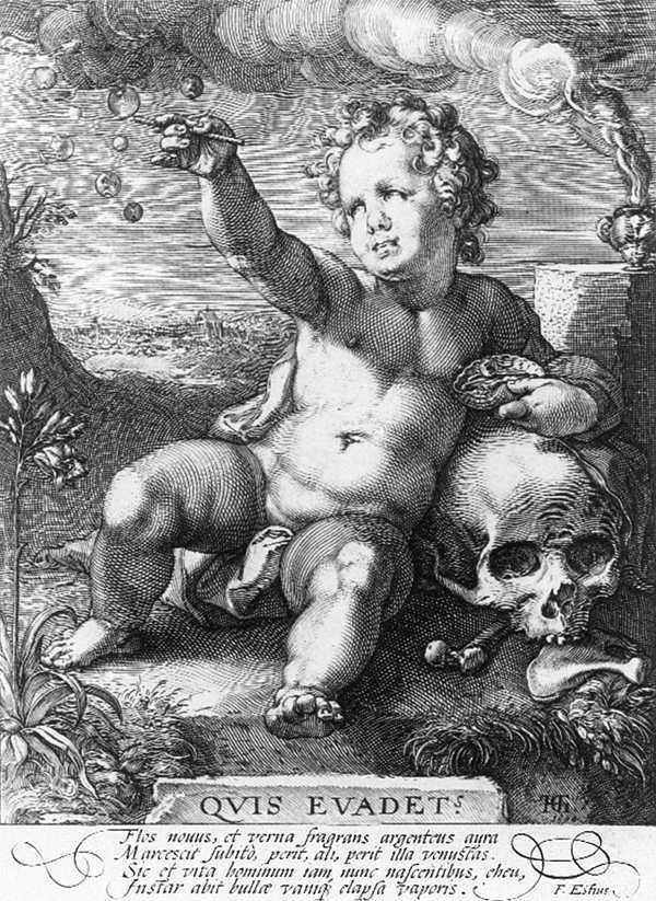 GOLTZIUS, Hendrick Quis evadet? 1594 Gravure, 212 x 153 mm