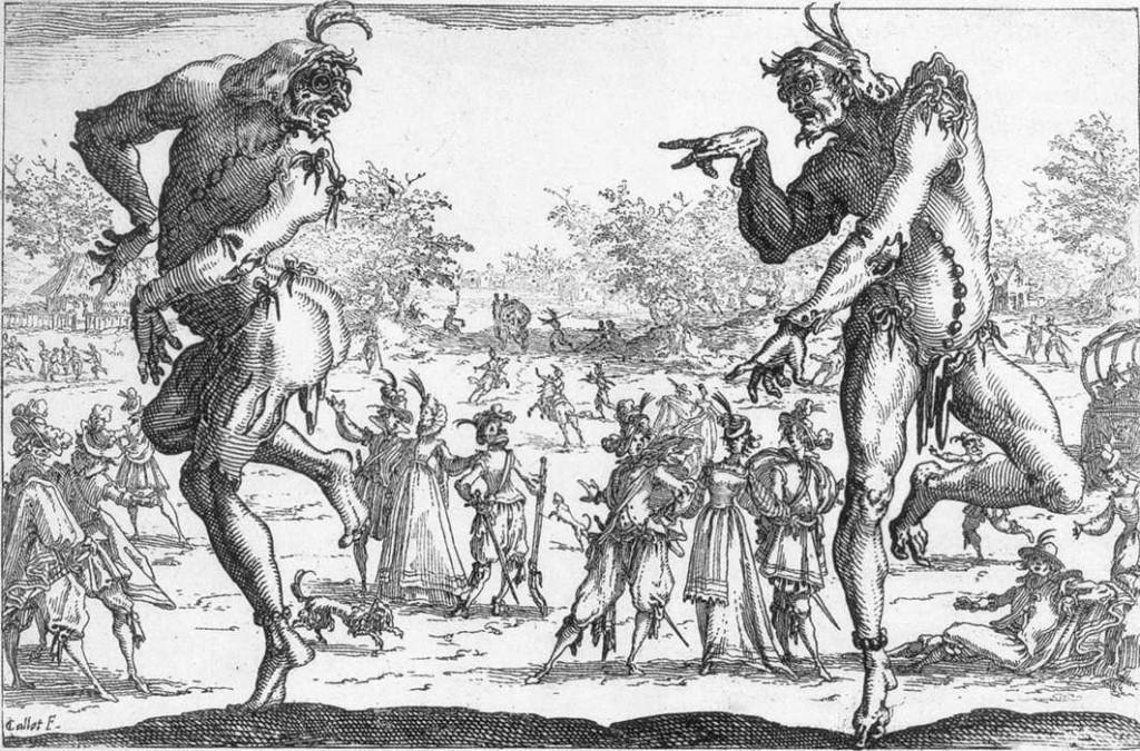 Jacques Callot, Les deux Pantalons, 1616, British Museum, London (source : WGA)