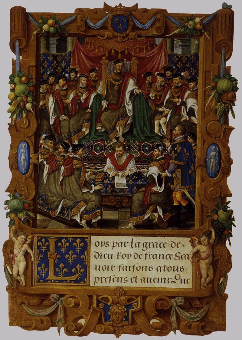 Statuts de l'ordre de saint Michel (vers 1550), bibliothèque municipale de Saint-Germain-en-Laye (source : WGA).