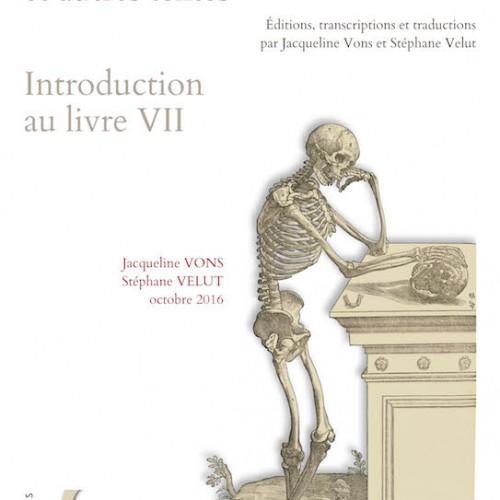 La Fabrique de Vésale et autres textes - éditions, transcriptions et traductions par Jacqueline Vons et Stéphane Velu