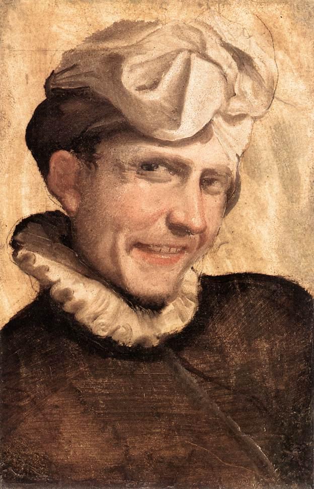 CARRACCI, Annibale Jeune garçon riant, 1583 Huile Galleria Borghese, Rome (source : WGA)