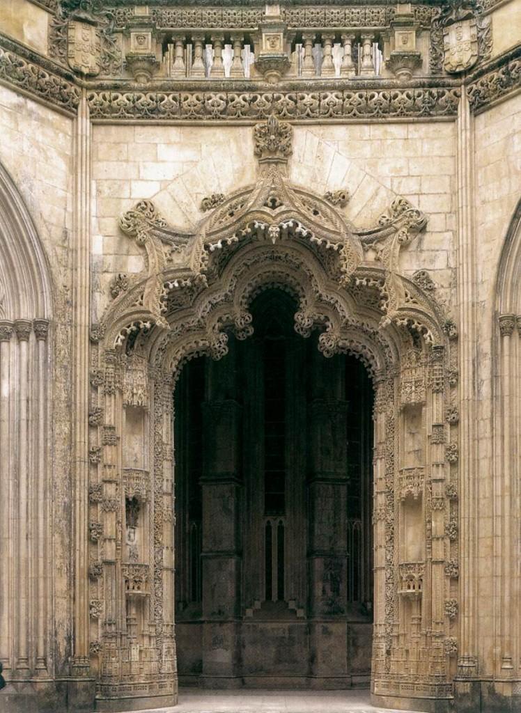 Portail du monastère de Santa Maria de Vitória, Batalha, Portugal, 1509 (source : WGA)