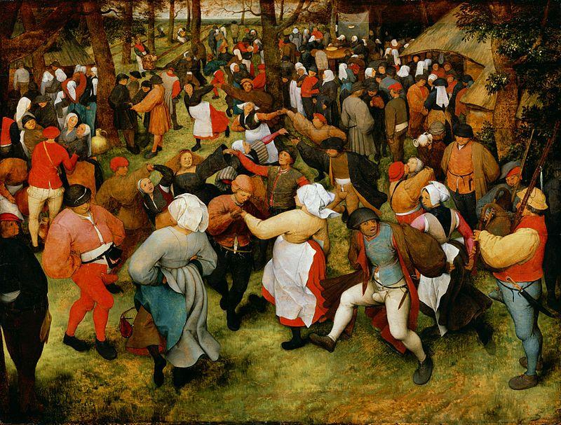 Pieter Brueghel l'Ancien, La danse de la mariée en plein air, 1566, Detroit Institut of Arts, Détroit