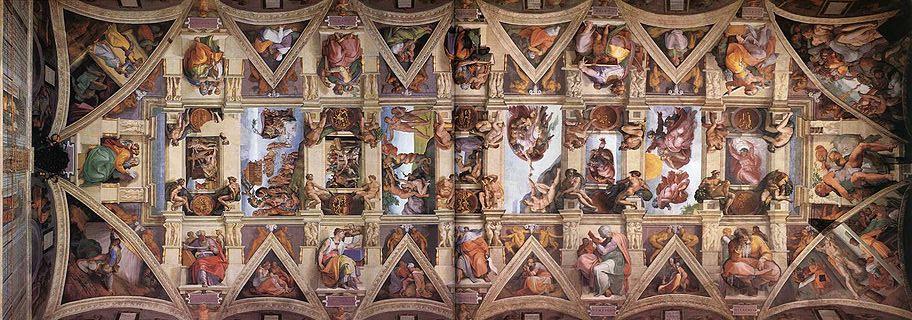 Michelangelo Buonarroti, Plafond de la chapelle Sixtine, 1508-1512, Rome.