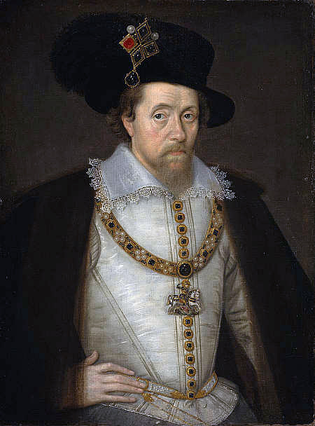 John de Critz, Portrait de Jacques Ier, 1604, National Galleries of Scotland.