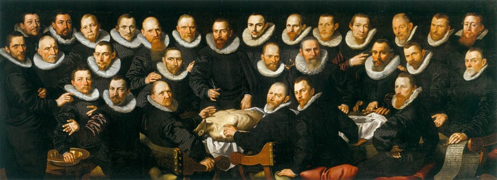 PIETERSZ., Aert La leçon d'anatomie de Sebastiaen Egbertsz. 1603 Huile sur toile, 147 x 392 cm, Amsterdam Museum, Amsterdam