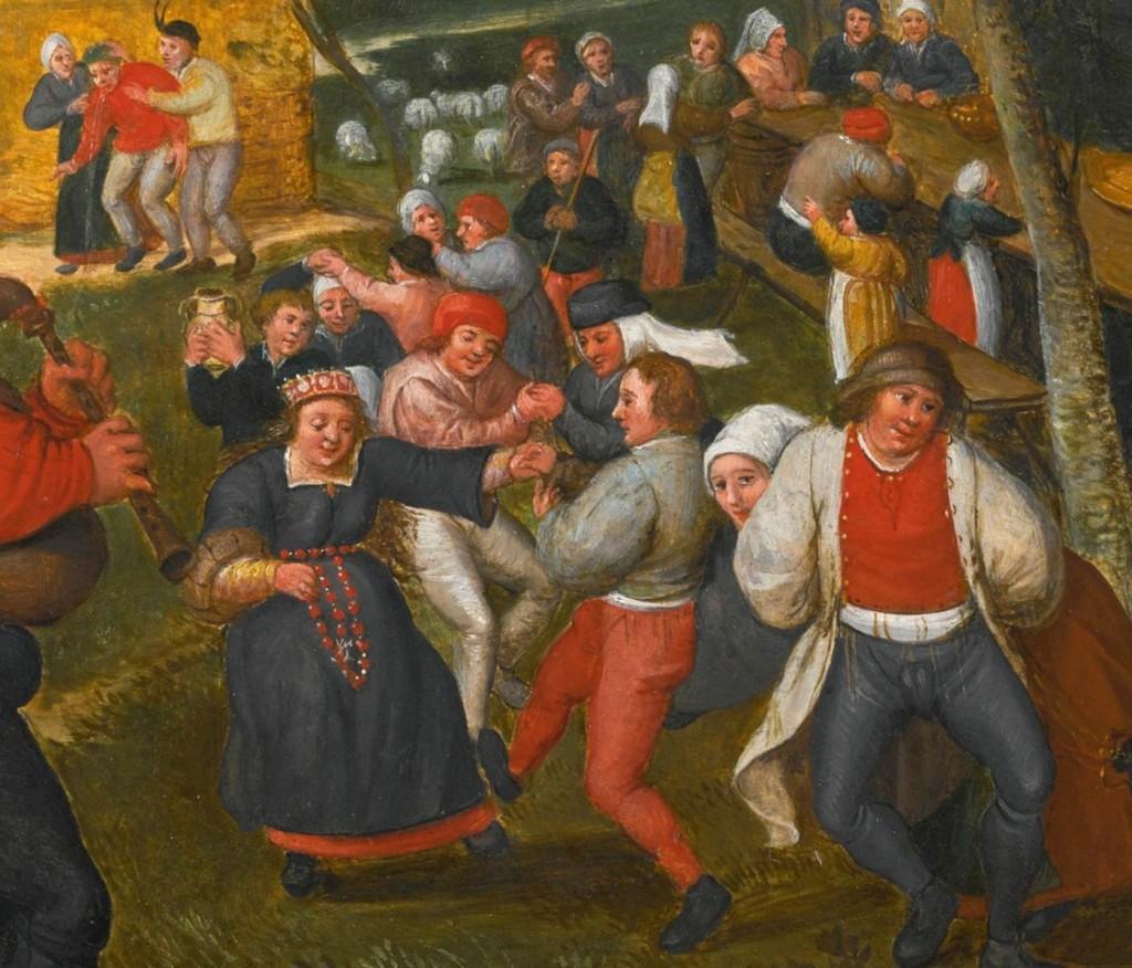 CLEVE, Marten van I Danse de mariage Huile sur panneau,  Collection privée