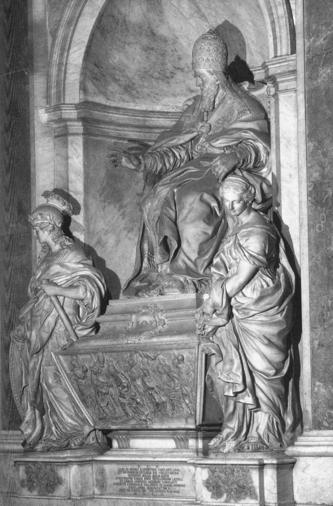 ALGARDI, Alessandro Tombe du pape Léon XI 1634-44, marbre, Basilica di San Pietro, Vatican (source WGA)