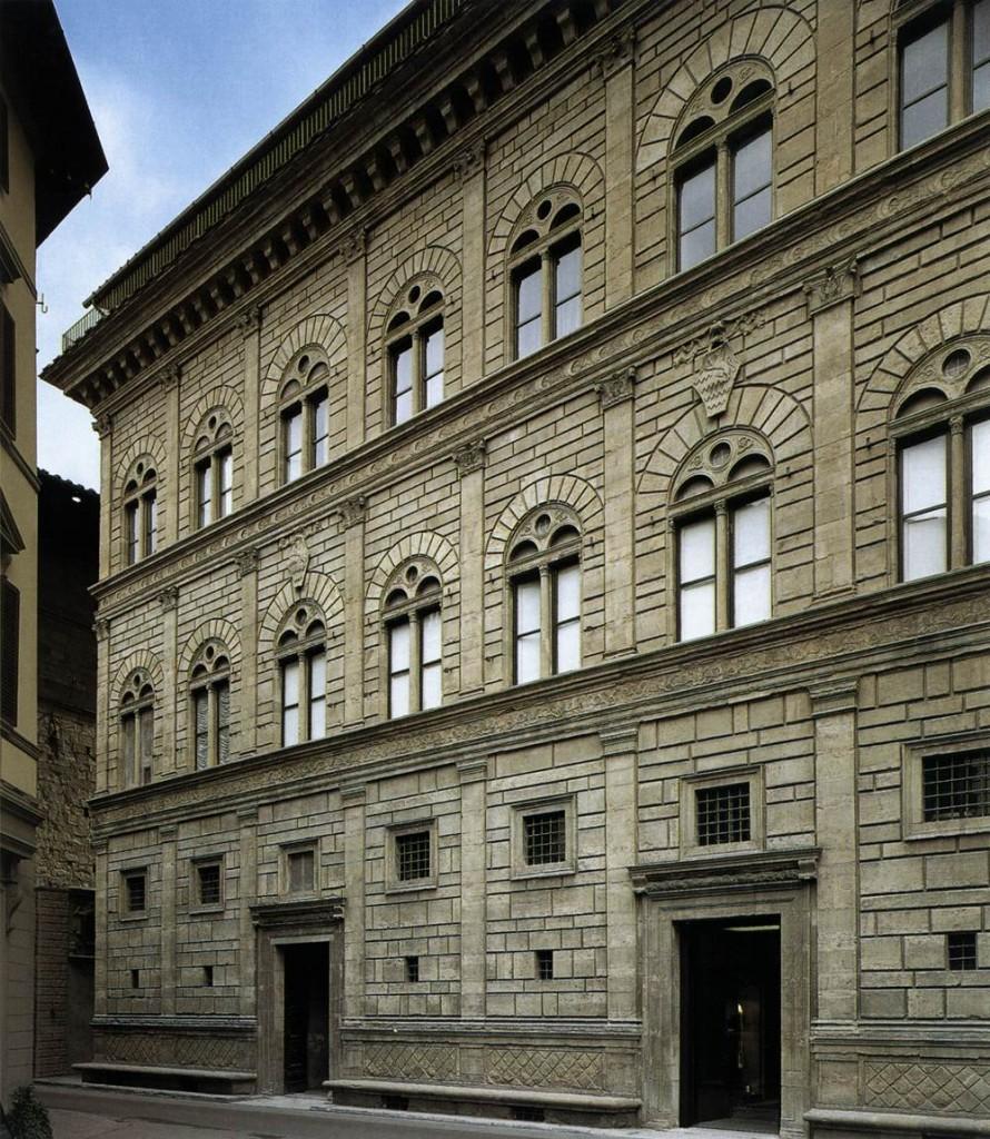 ALBERTI, Leon Battista Palazzo Ruccelai: Façade 1446-51 Photo Via della Vigna Nuova, Florence (source WGA)