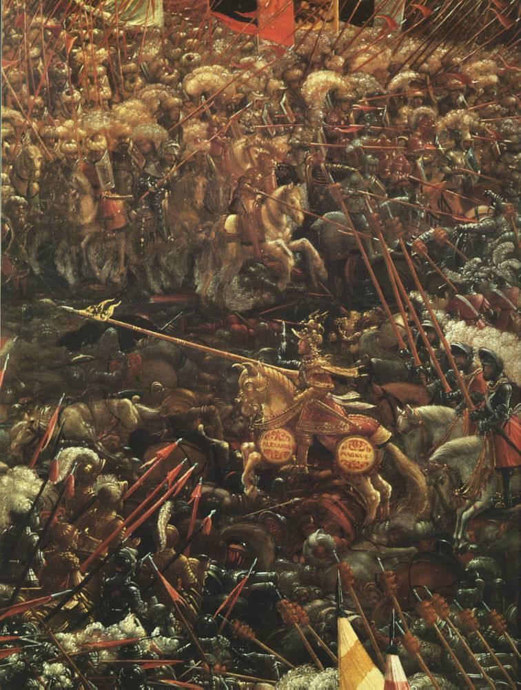 ALTDORFER, Albrecht La bataille d'Alexandre, (détail), 1529; Alte Pinakothek, Munich (source : WGA)