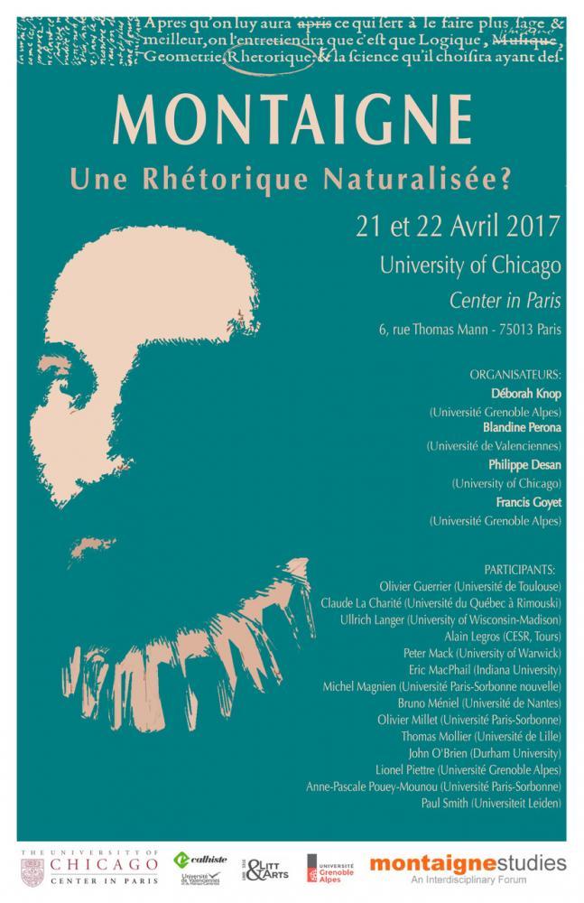 Montaigne colloquium 21 et 22 avril 2017