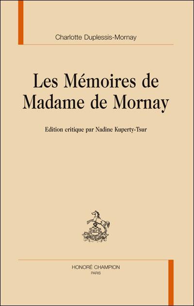 Les mémoires de madame de Mornay