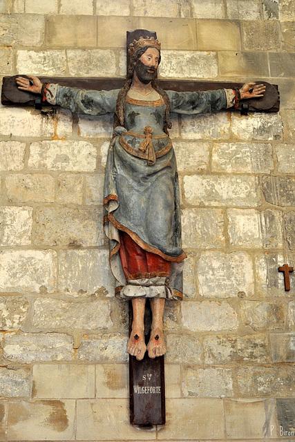 Sainte Wilgeforte, église Saint-Etienne, Beauvais (source : http://www.ipernity.com/doc/philippe_28/38701252)