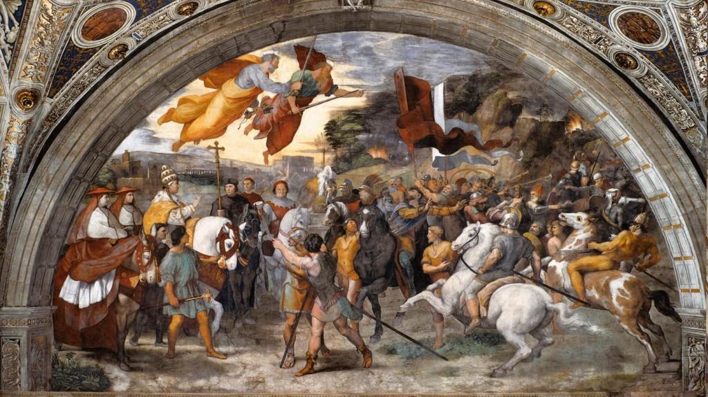 Rafaelo Sanzio, La rencontre entre Léon le Grand et Attila, 1514 (WGA)