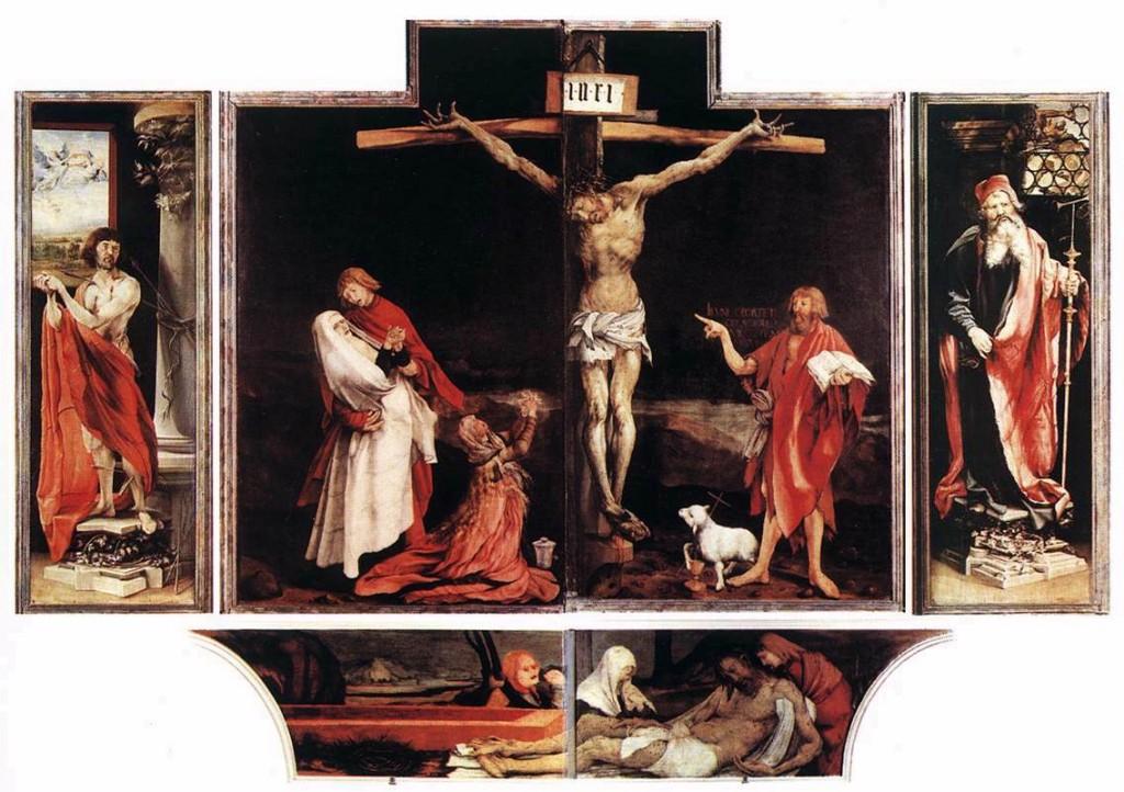 GRÜNEWALD, Matthias Retable d'Issenheim c. 1515 Huile sur bois, Musée d'Unterlinden, Colmar (source : WGA)