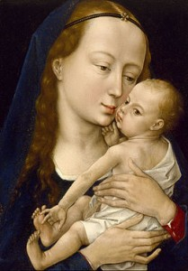 Rogier van der Weyden, La Vierge à l'enfant, après 1454, The Museum of fone Arts, Houston.