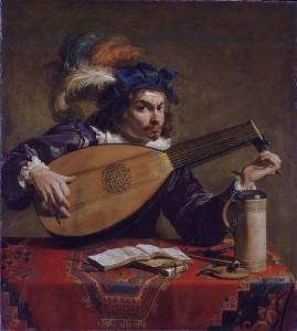 Theodoor Rombouts, Le joueur de luth, vers 1620, Philadelphia Museum of Art, Philadelphia.