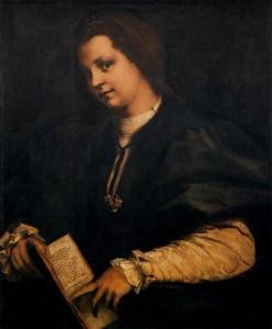 Andrea del Sarto, Portrait d'une femme avec un livre 1514, huile sur bois, 87 x 69 cm Galleria degli Uffizi, Florence (WGA)