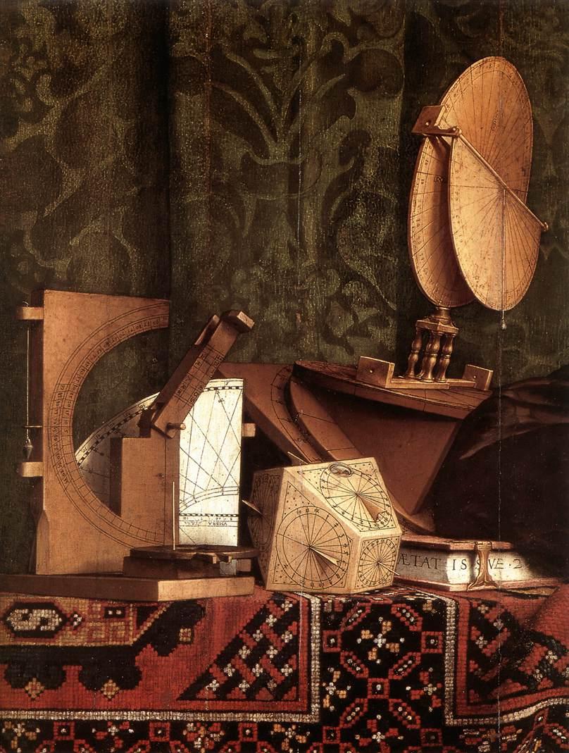 """Hans HOLBEIN le Jeune, """"Les Ambassadeurs"""" (détail), (1533), Londres, National Gallery (source : WGA)."""