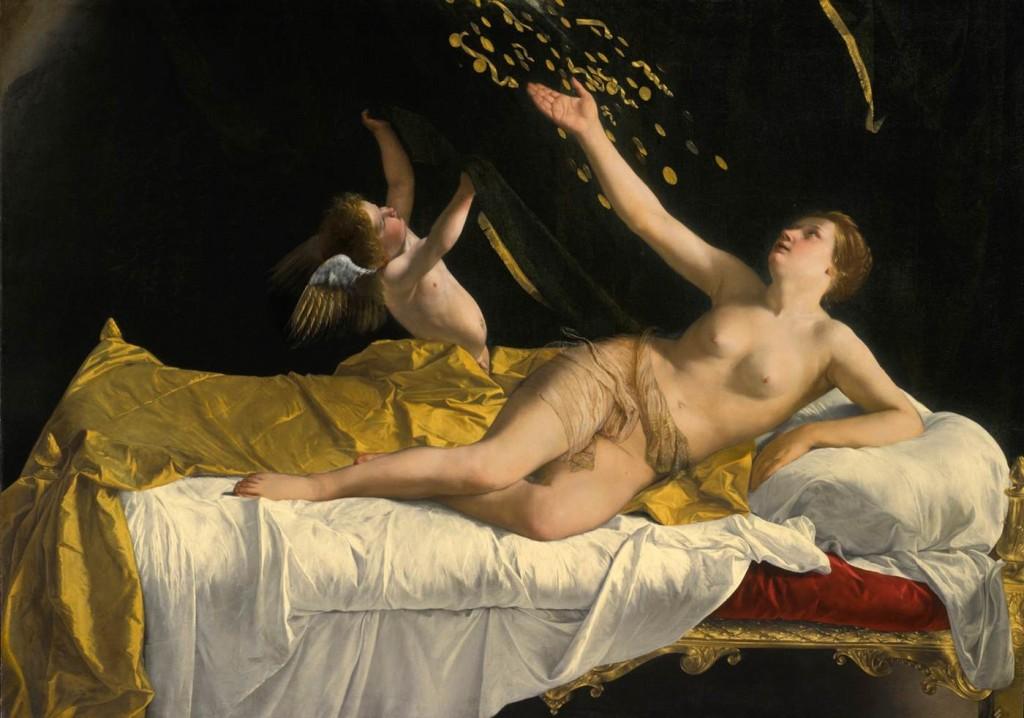 GENTILESCHI, Orazio Danaë c. 1621 J. Paul Getty Museum, Los Angeles (source : WGA)