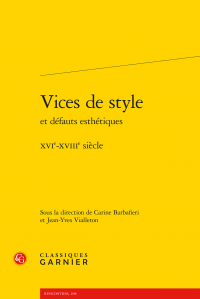 Vices de style et défauts esthétiques - XVIe-XVIIIe siècle