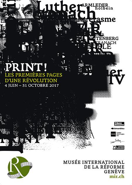 """Affiche de l'exposition """"Print !"""" (MIR Genève)"""