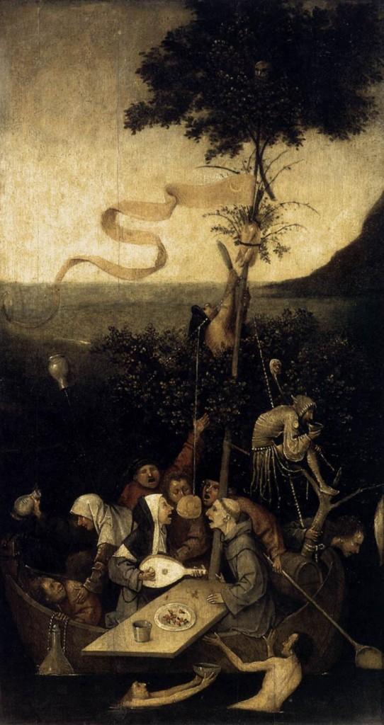 la Nef des fous, Jérôme Bosch, huile sur bois, 1490 - 1500, Musée du Louvre (WGA)