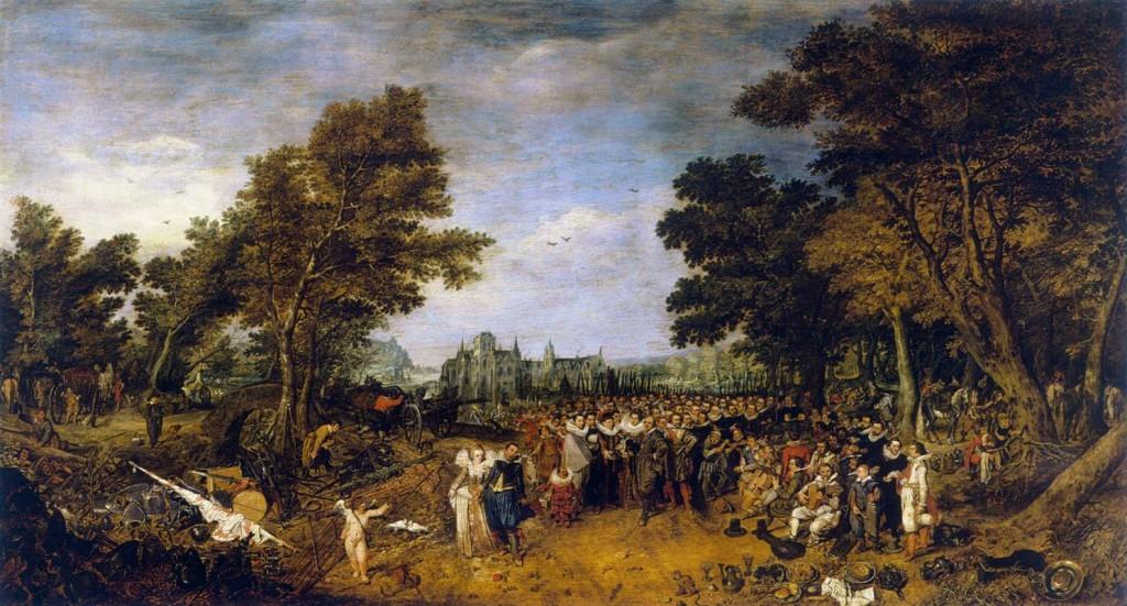 Adrien Pietersz van de Venne, Allégorie des douze ans de treve, 1616, musée du Louvre (WGA)