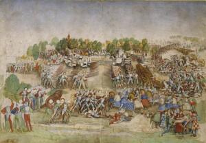 Maître à la Ratière, Bataille de Marignan (1515), XVIe siècle, Musée Condé,Chantilly.