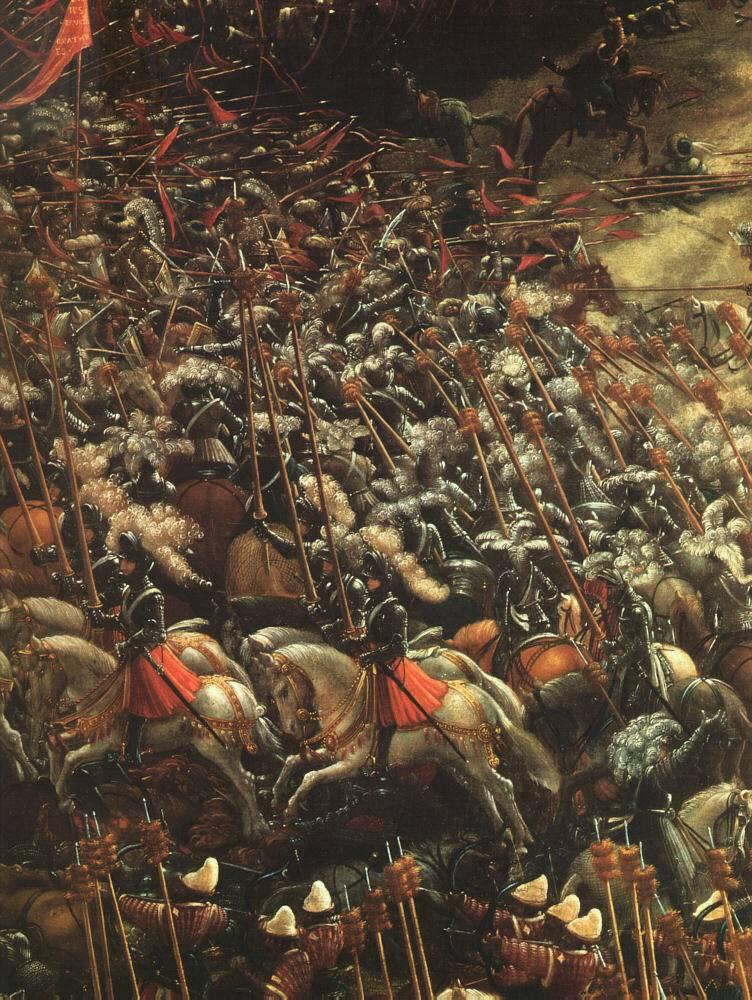 Albrecht Altdorfer, La bataille d'Alexandre (détail), 1529, Alte Pinakothek, Munich (source: WGA)