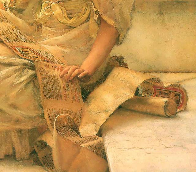Illustration (détail) : Lawrence Alma-Tadema, The Favourite Poet, 1888, collection privée.
