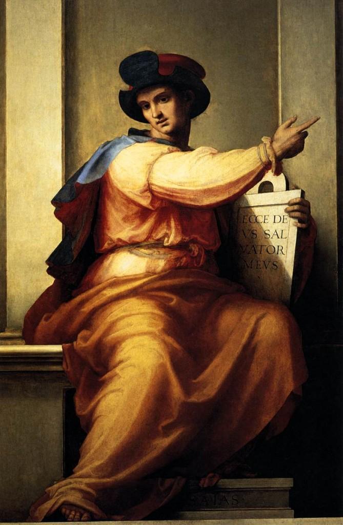 Frère Bartoloméo, Le prophète Isaïe, vers 1516, Florence, Galerie de l'Académie (WGA)